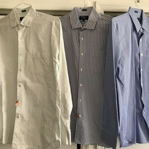 J. Crew Lot Of 3 Men's Long Sleeves Size Small